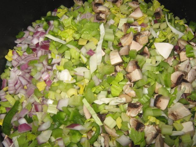 نخلط الخضراوات