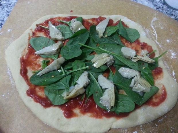 بيتزا خضار بطريقتي 3