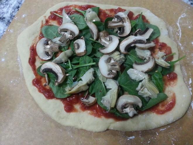 بيتزا خضار بطريقتي 4